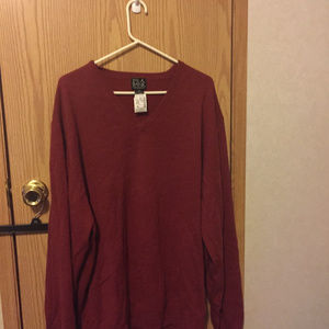 100% Cashmere Red Long Sleeve Sweater